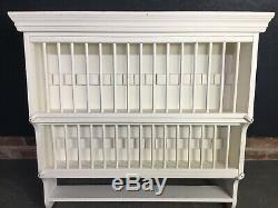 Wall Mounted Wooden Plate Rack Unit Kitchen Cabinet (2)