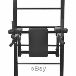 Wall-mounted Multi-functional Fitness Power Tower Rack Gym Home Dip Station