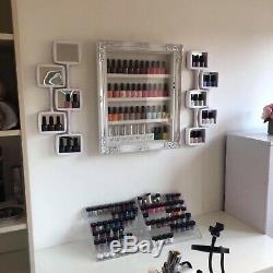 Wall mounted nail polish Racks/storage Salon Shelf Retail Furniture, LOCKABLE