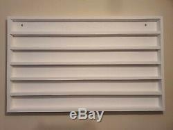 Wall mounted wood nail polish rack 100X60cm