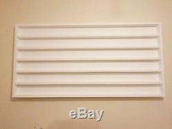 Wall mounted wood nail polish rack 120X60cm