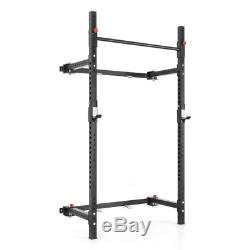 Warrior Folding Squat Rack Power Cage Wall Mounted Rig J-Hooks IN STOCK NEW
