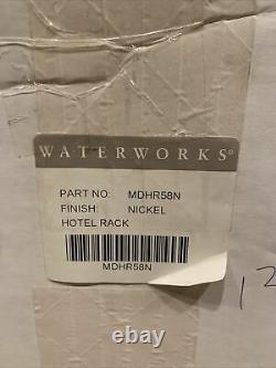 Waterworks Meridian Hotel Rack Towel Bar Nickel MDGR58N NIB