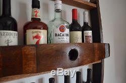 Whiskey/Wine Barrel Wine Rack