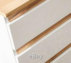 White Gloss Oak Bathroom Vanity Sink Unit Countertop Wall Hung Drawer Plat