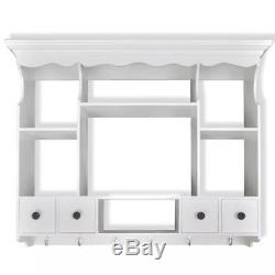 White Kitchen Cabinet Wall Mounted Plate Holder Storage Organiser French Rack