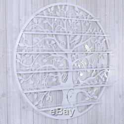 White Metal Wall Mounted Nail Polish Rack 6 Tiers Holder Display Cosmetic Shelf