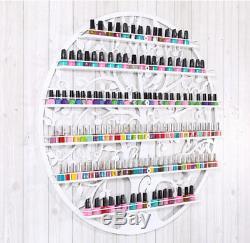 White Nail Polish Shelf Rack Wall Mounted Holder Hot 6 Tiers Cosmetics Organizer