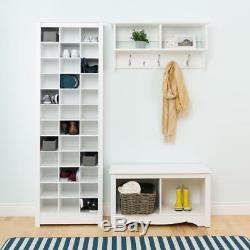 White Space Saving Shoe Storage Cabinet Rack Organizer Shelf Closet Tier Cover
