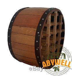 Wine Rack Drink Bottle Storage Handmade from Scotch Whiskey Barrel