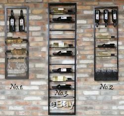 Wine Rack Wall Mountable Drink Glasses Bottles Holder Kitchen Display Storage