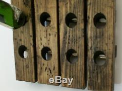 Wine Riddling Rack Distressed Wood Handmade Wall Hanging