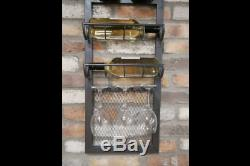 Wine Wall Unit Bar Pub Metal Mounted Drinks Wine Racks Holder Storage Furniture