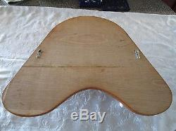 Wood & Brass porthole Mirror Coat hat Rack Oak Wall Mounted Hooks ceramic Tips