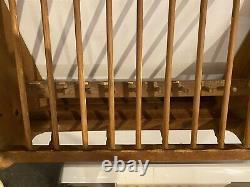 Wood Plate Rack Wall Mounted