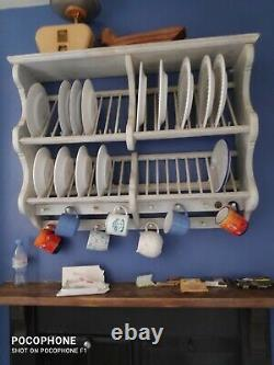 Wooden Penny Pine Wall Mounted Plate Rack