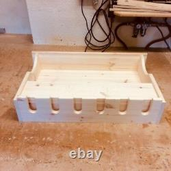 Wooden Wall Wine Rack Bar Accessories Including Glass Holder