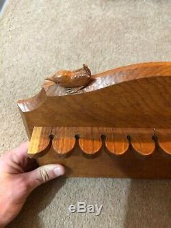 Wren Man Bob Hunter Oak Wall Mounted Spoon Rack Ex Mouseman Apprentice