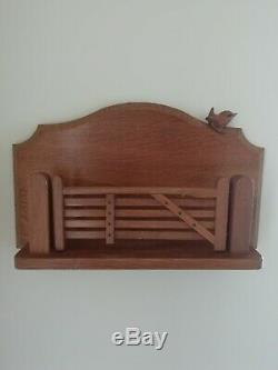 Wrenman Wall mounted Letter Rack Bob Hunter Mouseman Interest