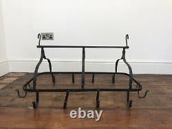 Wrought iron Antique Kitchen Pot Hanger/ Rack 12 Hooks
